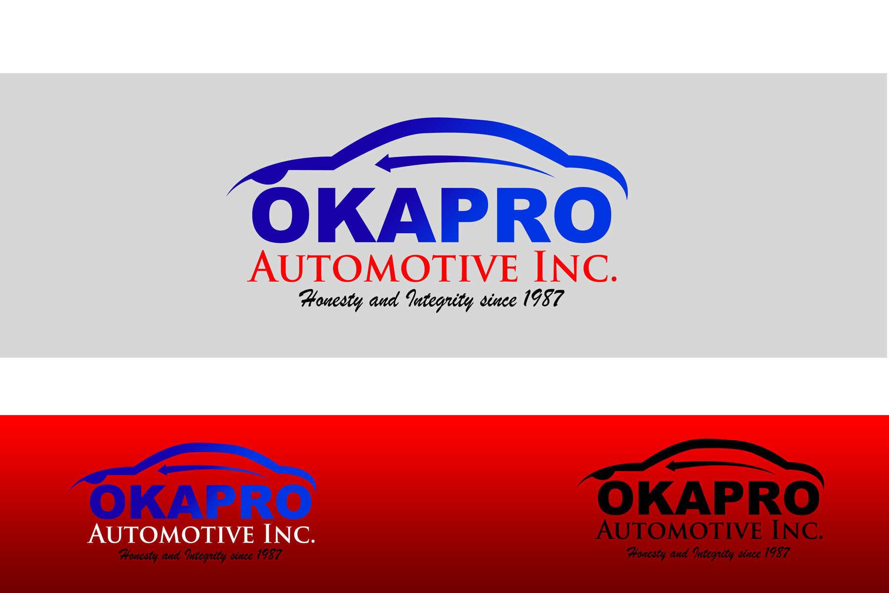 Logo Design by Private User - Entry No. 10 in the Logo Design Contest New Logo Design for Okapro  Automotive  Inc.