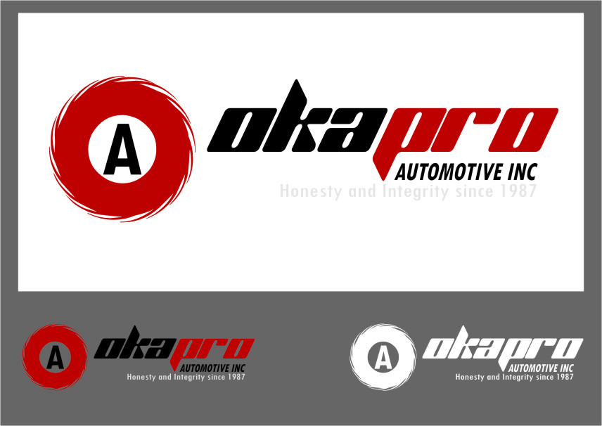 Logo Design by Ngepet_art - Entry No. 11 in the Logo Design Contest New Logo Design for Okapro  Automotive  Inc.