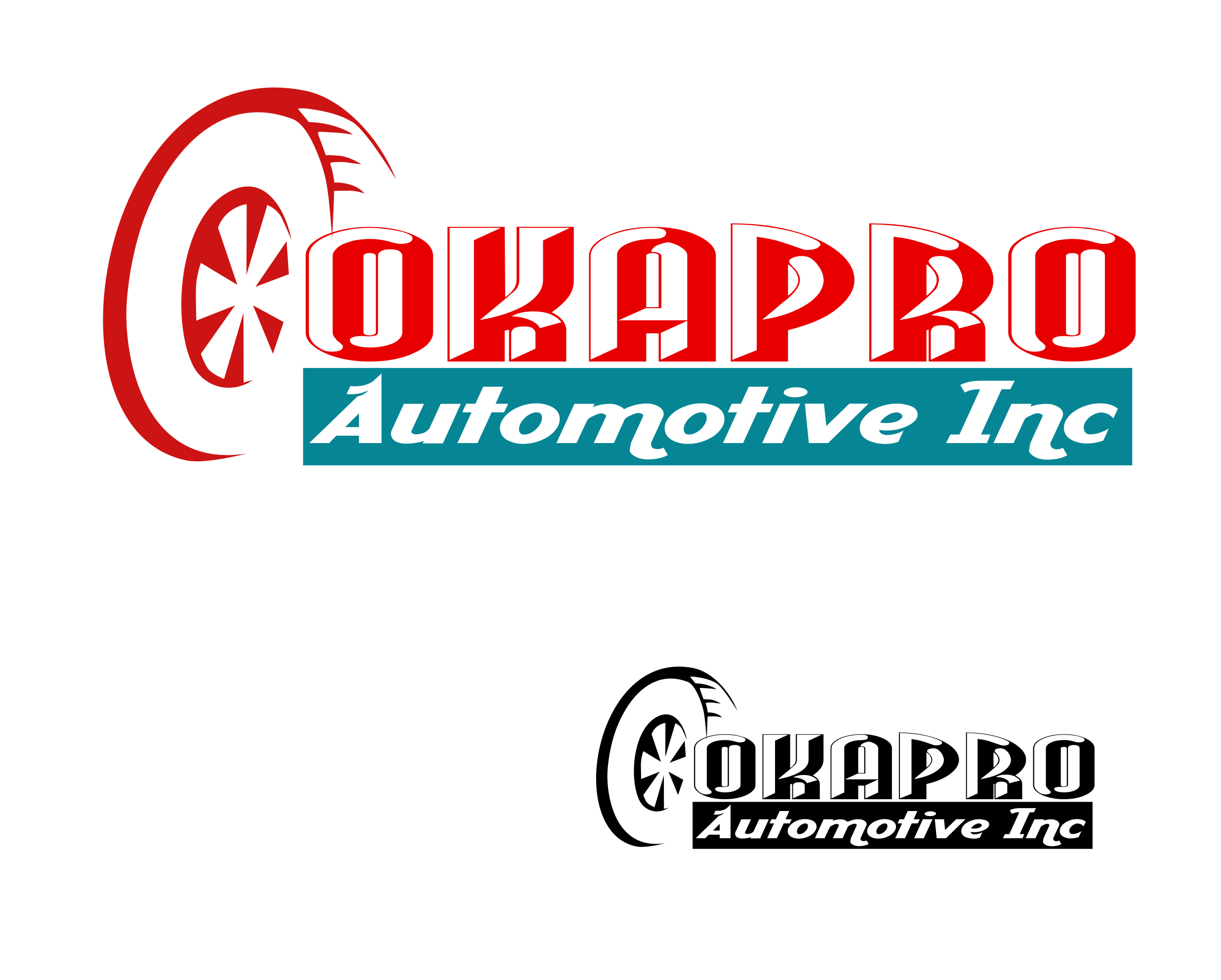 Logo Design by Aveeb Murdavein - Entry No. 12 in the Logo Design Contest New Logo Design for Okapro  Automotive  Inc.