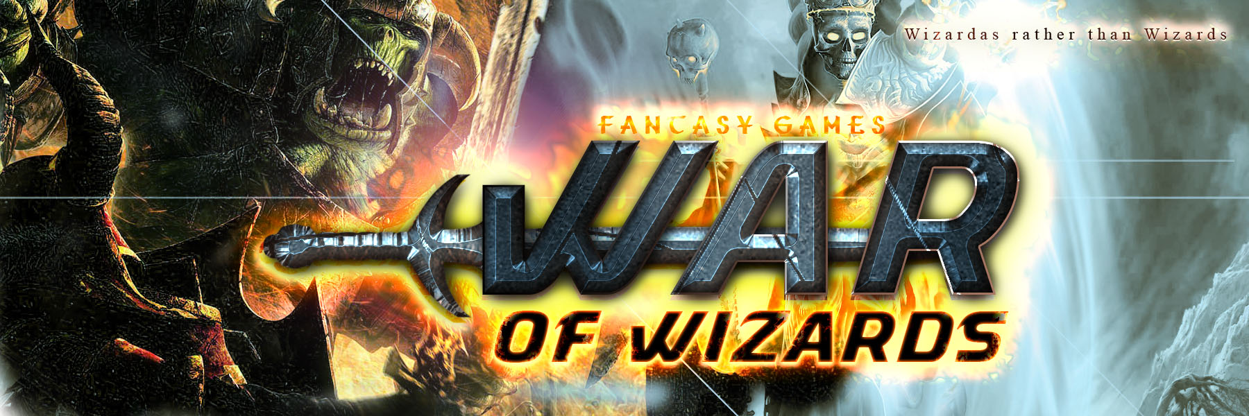 Banner Ad Design by Private User - Entry No. 16 in the Banner Ad Design Contest Banner Ad Design - War of Wizards (fantasy game).