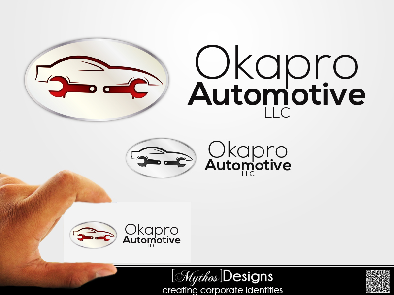 Logo Design by Mythos Designs - Entry No. 13 in the Logo Design Contest New Logo Design for Okapro  Automotive  Inc.