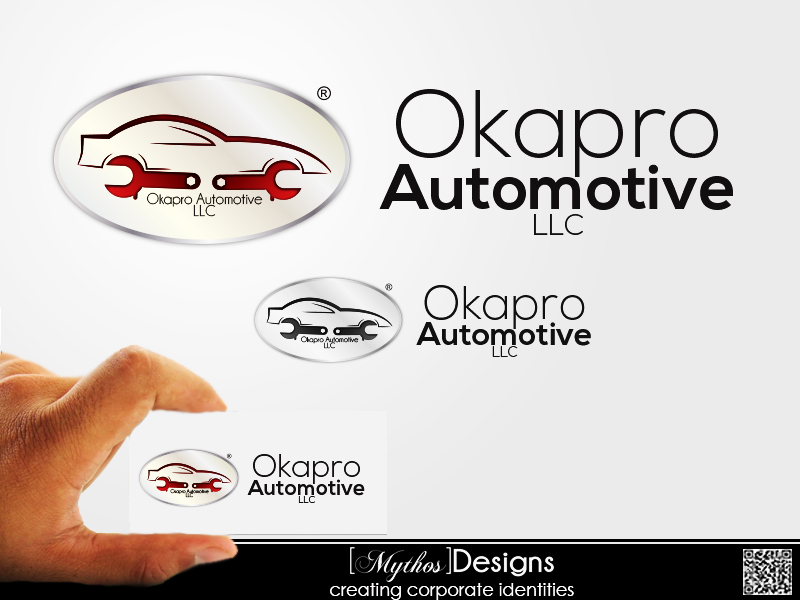 Logo Design by Mythos Designs - Entry No. 14 in the Logo Design Contest New Logo Design for Okapro  Automotive  Inc.