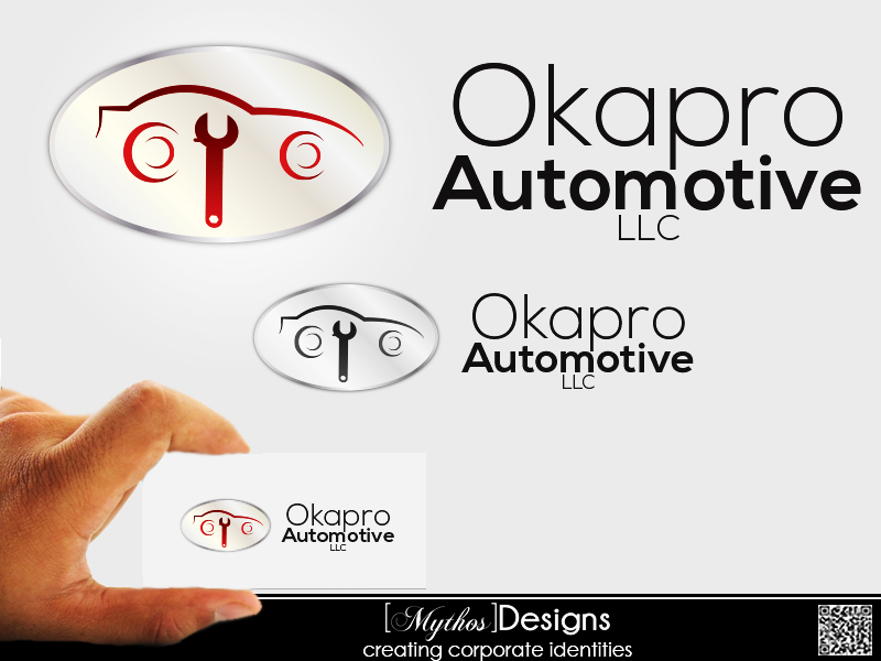 Logo Design by Mythos Designs - Entry No. 16 in the Logo Design Contest New Logo Design for Okapro  Automotive  Inc.