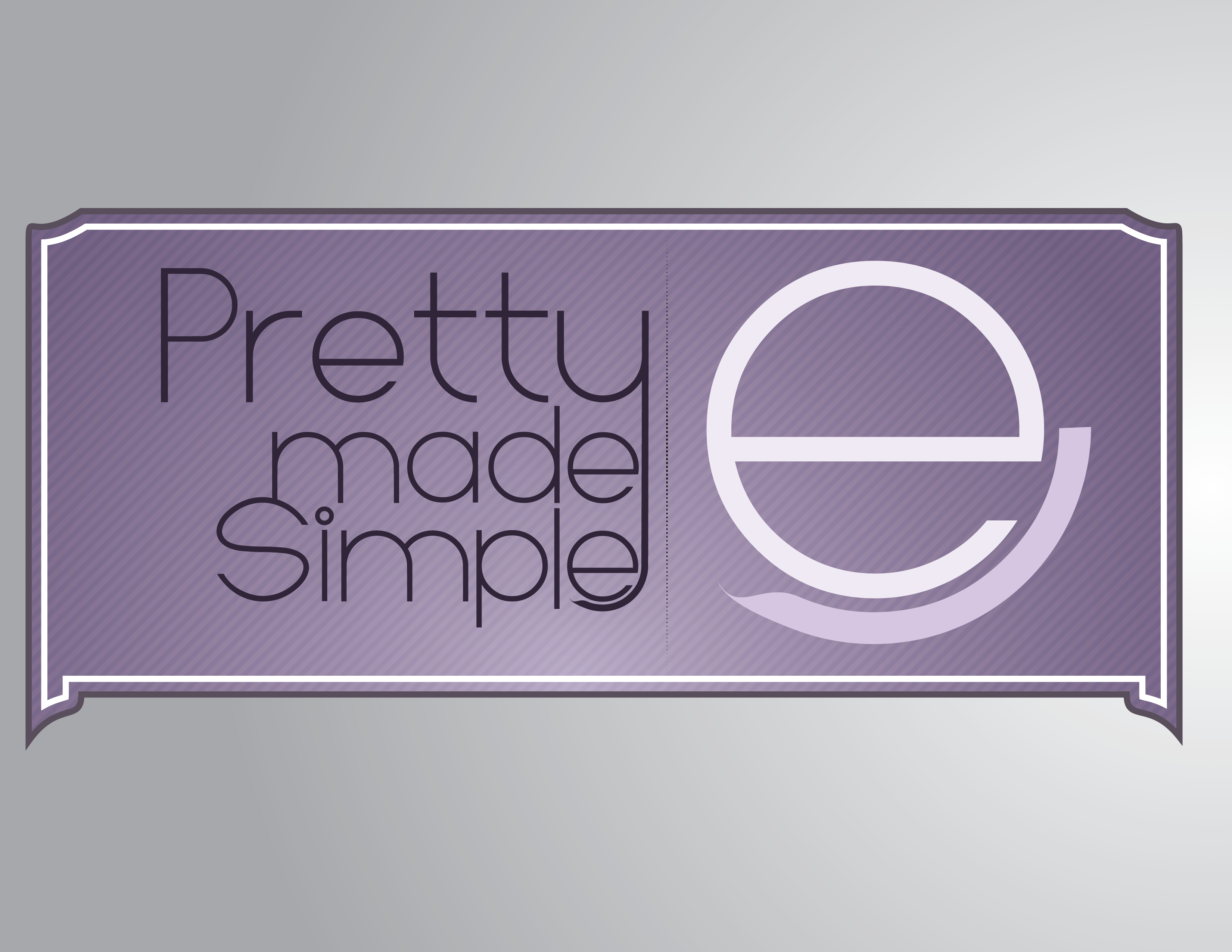 Logo Design by John Pelelis - Entry No. 28 in the Logo Design Contest Pretty Made Simple Logo Design.