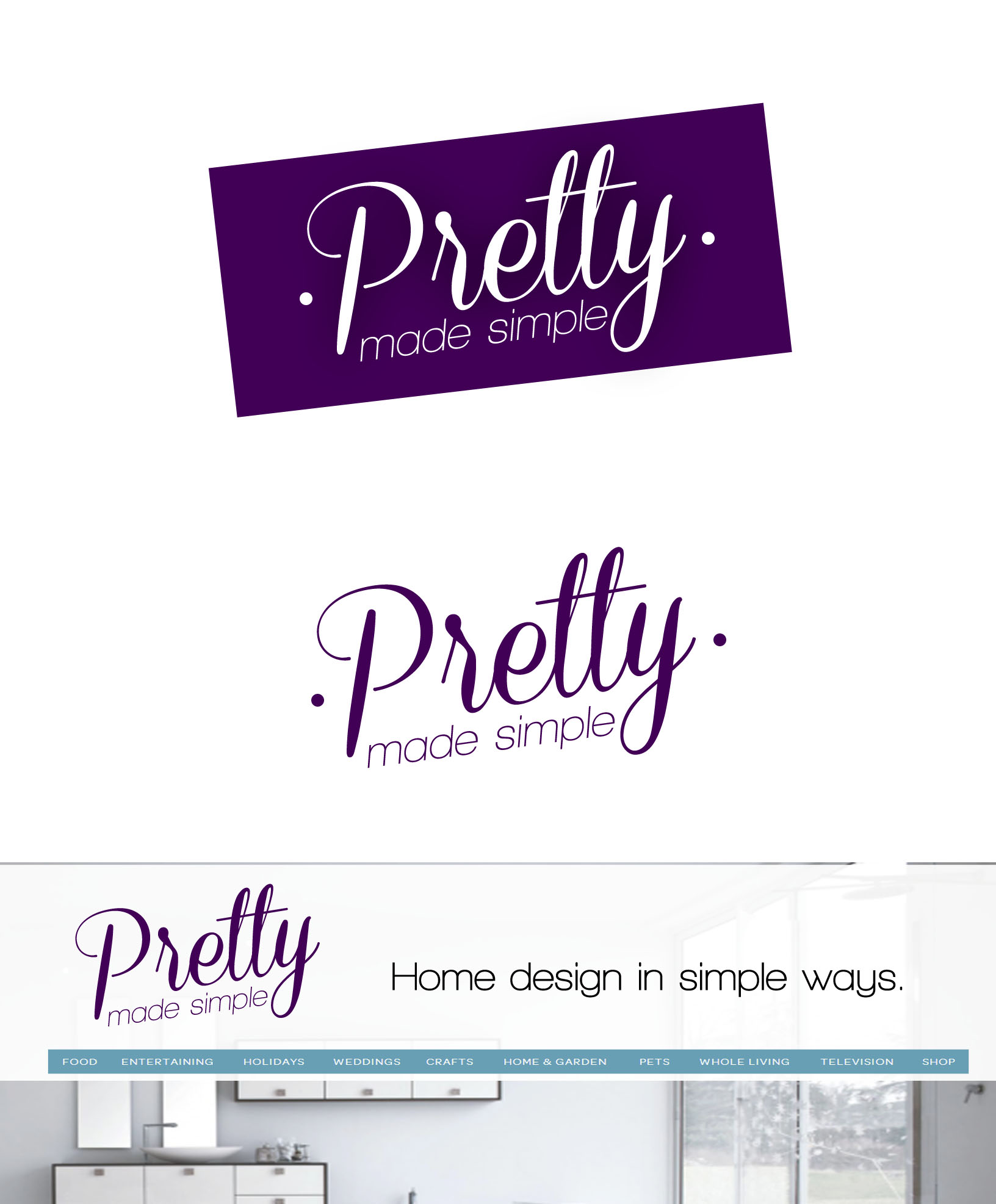 Logo Design by Lama Creative - Entry No. 34 in the Logo Design Contest Pretty Made Simple Logo Design.