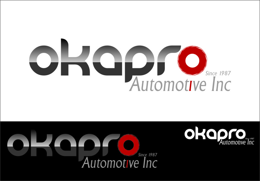 Logo Design by Ngepet_art - Entry No. 19 in the Logo Design Contest New Logo Design for Okapro  Automotive  Inc.
