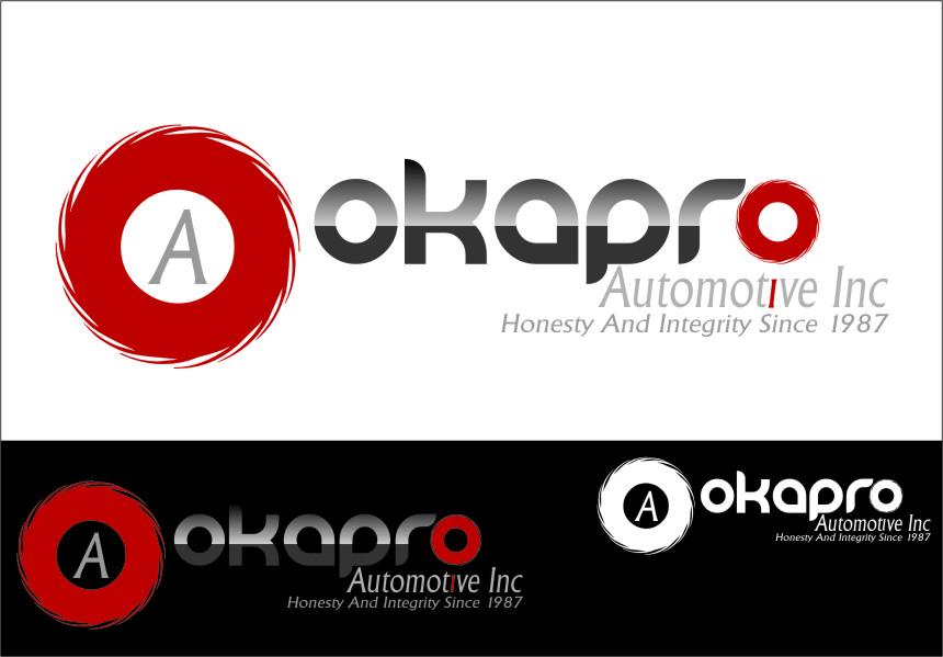 Logo Design by Ngepet_art - Entry No. 20 in the Logo Design Contest New Logo Design for Okapro  Automotive  Inc.