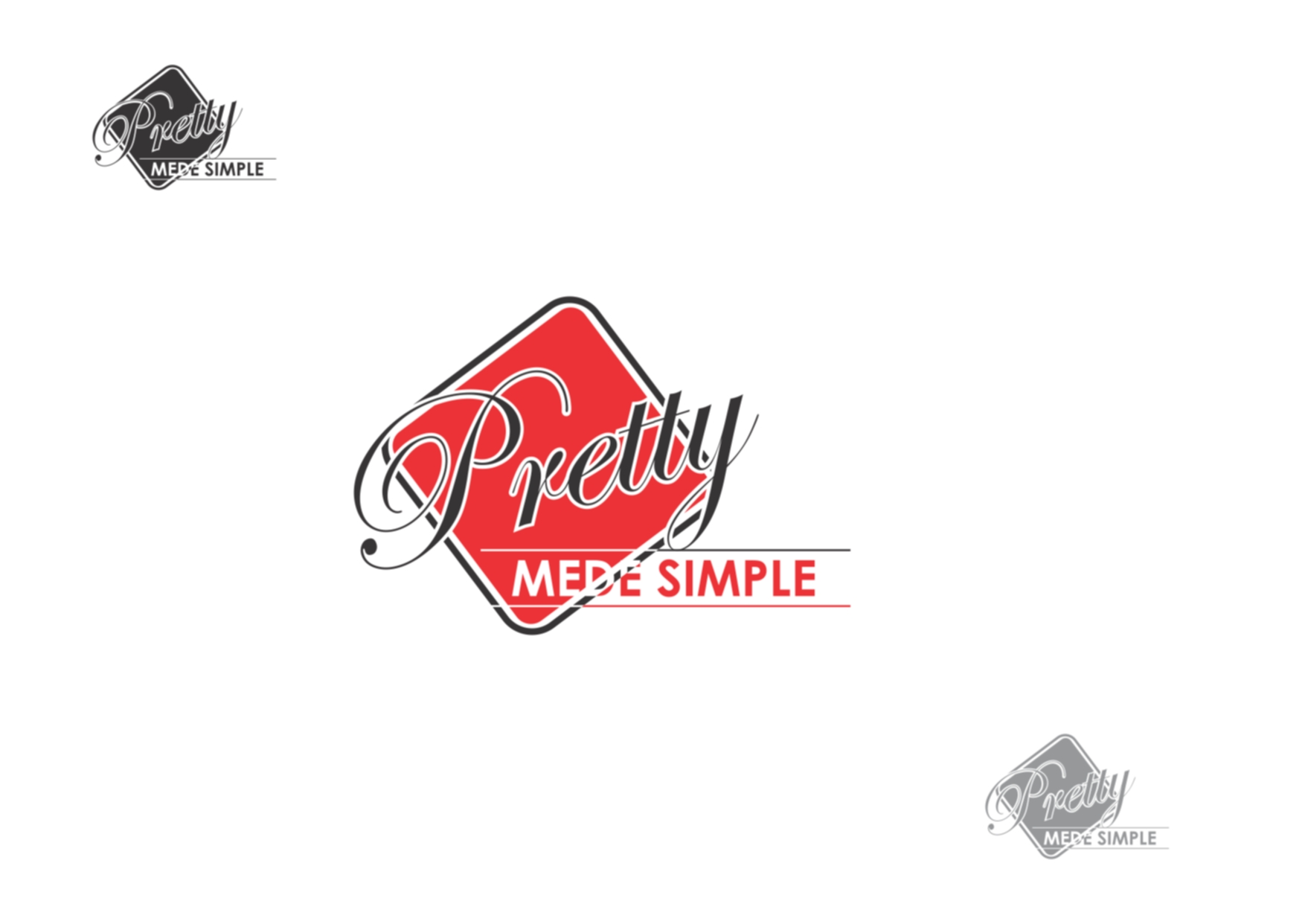 Logo Design by Private User - Entry No. 38 in the Logo Design Contest Pretty Made Simple Logo Design.