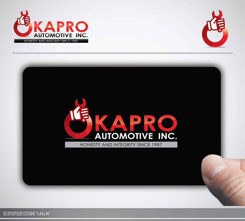Logo Design by kowreck - Entry No. 26 in the Logo Design Contest New Logo Design for Okapro  Automotive  Inc.
