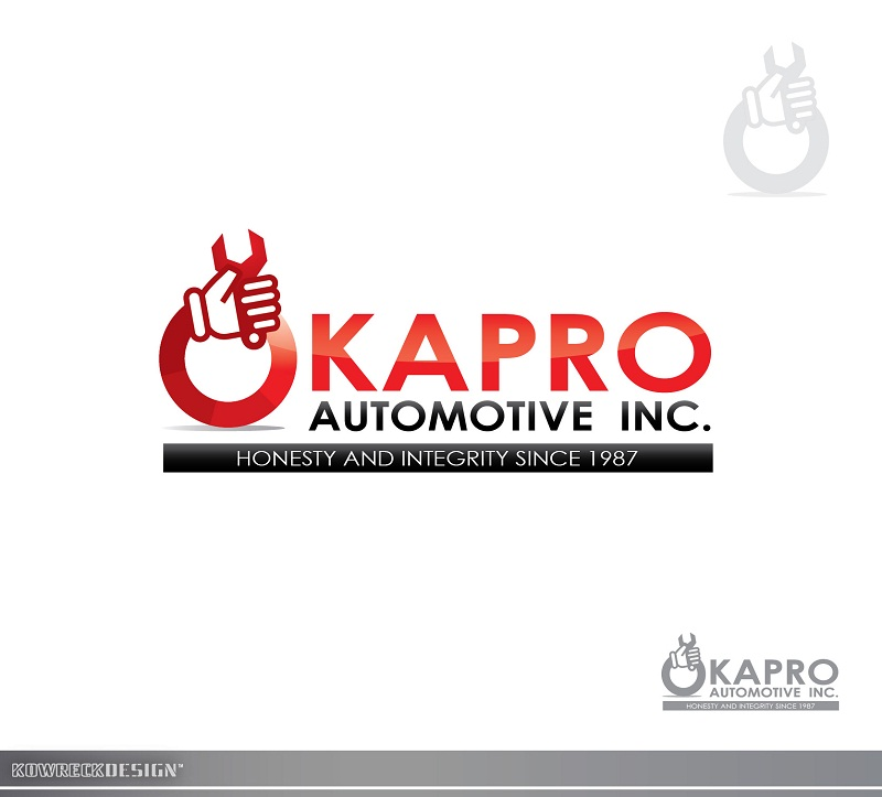 Logo Design by kowreck - Entry No. 27 in the Logo Design Contest New Logo Design for Okapro  Automotive  Inc.