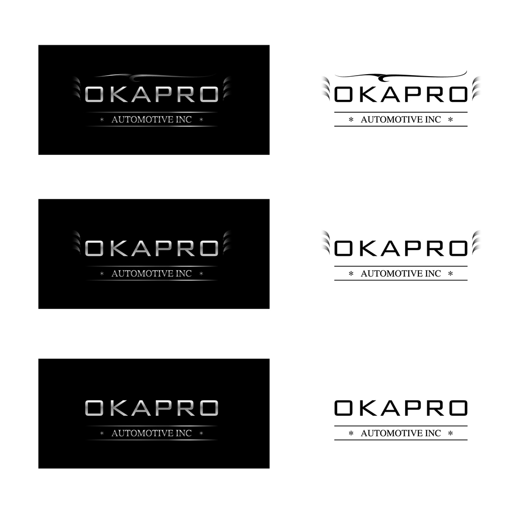 Logo Design by Vasil Boyadzhiev - Entry No. 32 in the Logo Design Contest New Logo Design for Okapro  Automotive  Inc.
