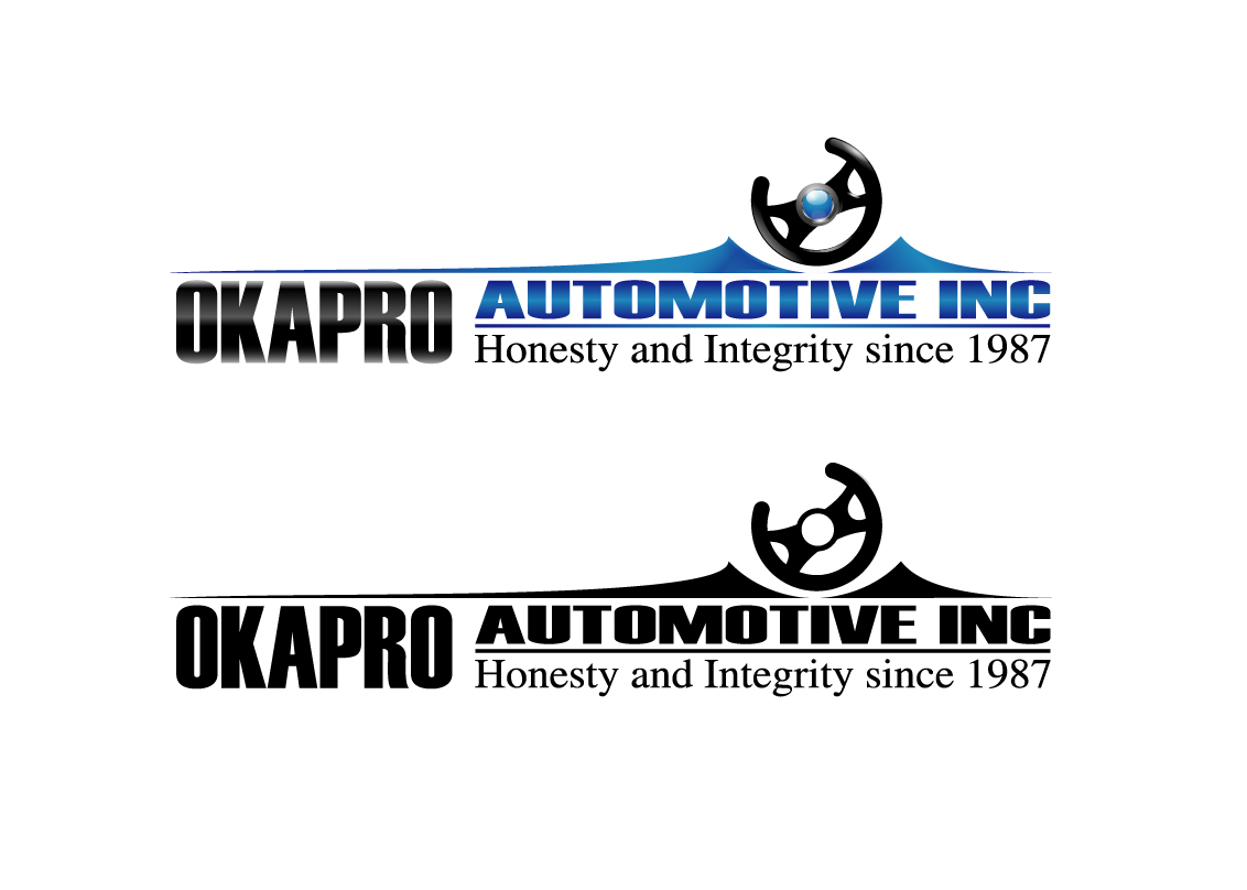 Logo Design by Vasil Boyadzhiev - Entry No. 34 in the Logo Design Contest New Logo Design for Okapro  Automotive  Inc.