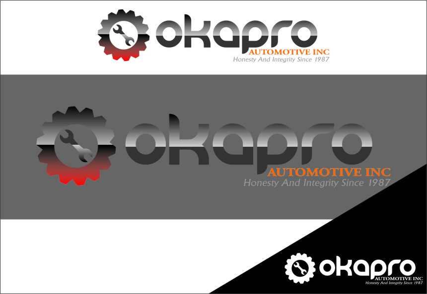 Logo Design by RasYa Muhammad Athaya - Entry No. 35 in the Logo Design Contest New Logo Design for Okapro  Automotive  Inc.