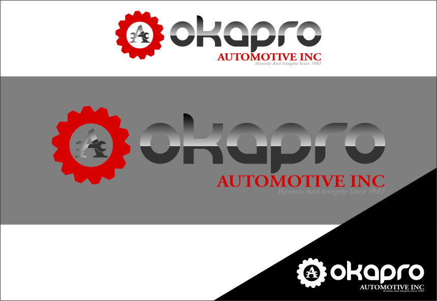 Logo Design by RasYa Muhammad Athaya - Entry No. 36 in the Logo Design Contest New Logo Design for Okapro  Automotive  Inc.