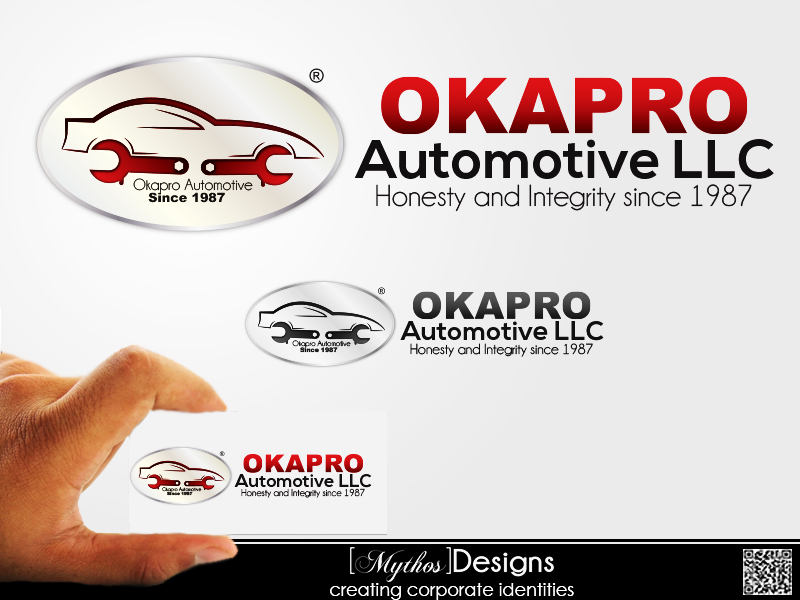 Logo Design by Mythos Designs - Entry No. 57 in the Logo Design Contest New Logo Design for Okapro  Automotive  Inc.