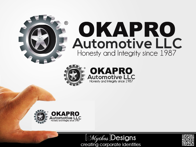 Logo Design by Mythos Designs - Entry No. 58 in the Logo Design Contest New Logo Design for Okapro  Automotive  Inc.
