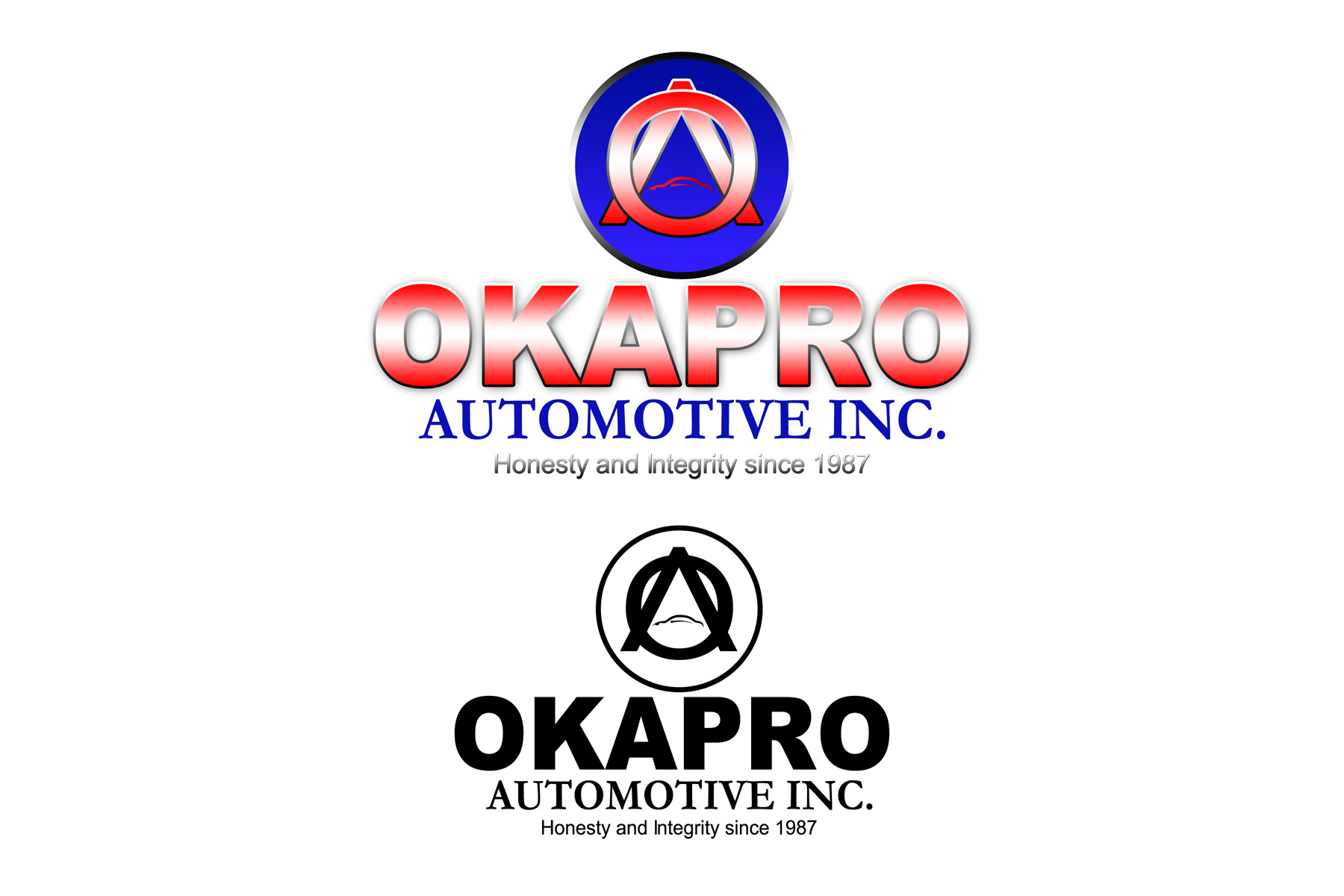 Logo Design by Private User - Entry No. 65 in the Logo Design Contest New Logo Design for Okapro  Automotive  Inc.
