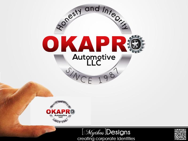 Logo Design by Mythos Designs - Entry No. 68 in the Logo Design Contest New Logo Design for Okapro  Automotive  Inc.