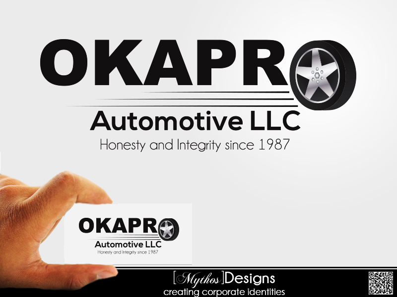 Logo Design by Mythos Designs - Entry No. 71 in the Logo Design Contest New Logo Design for Okapro  Automotive  Inc.
