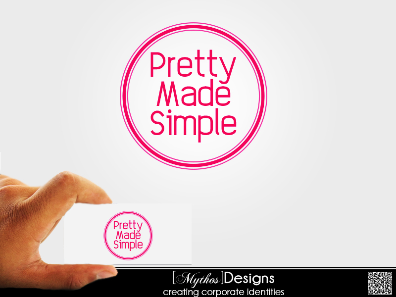 Logo Design by Mythos Designs - Entry No. 74 in the Logo Design Contest Pretty Made Simple Logo Design.