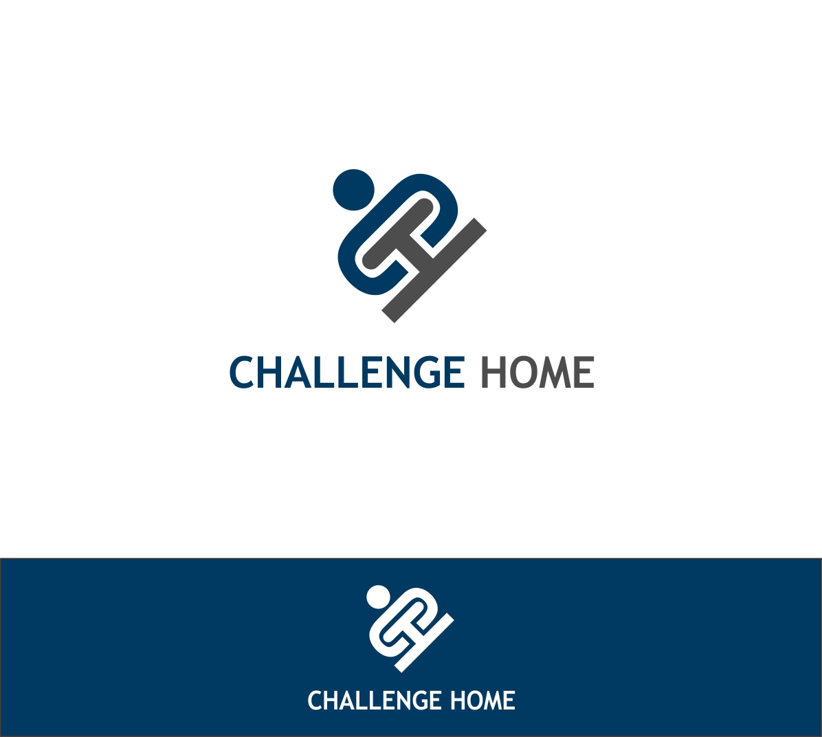 Logo Design by haidu - Entry No. 71 in the Logo Design Contest Unique Logo Design Wanted for Challenge Home.