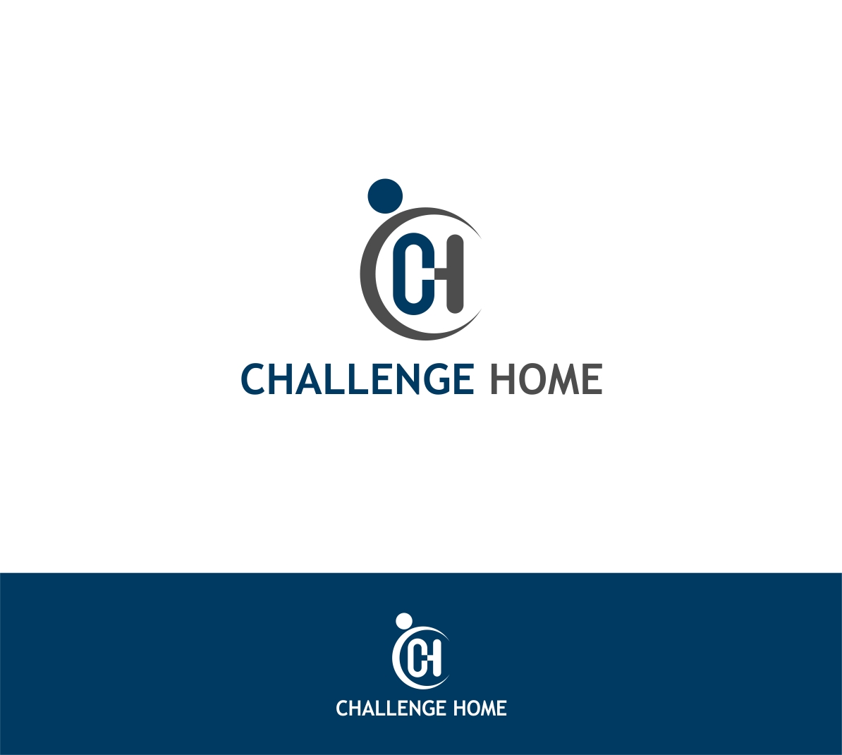 Logo Design by haidu - Entry No. 72 in the Logo Design Contest Unique Logo Design Wanted for Challenge Home.