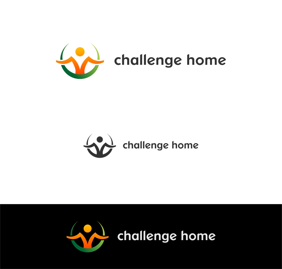 Logo Design by haidu - Entry No. 76 in the Logo Design Contest Unique Logo Design Wanted for Challenge Home.