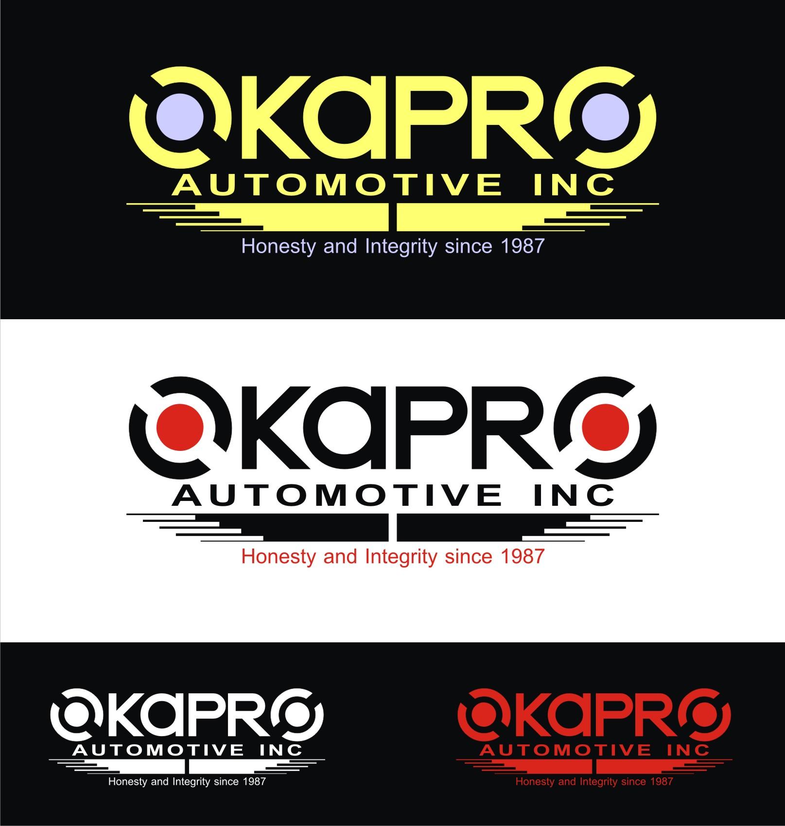 Logo Design by Private User - Entry No. 85 in the Logo Design Contest New Logo Design for Okapro  Automotive  Inc.