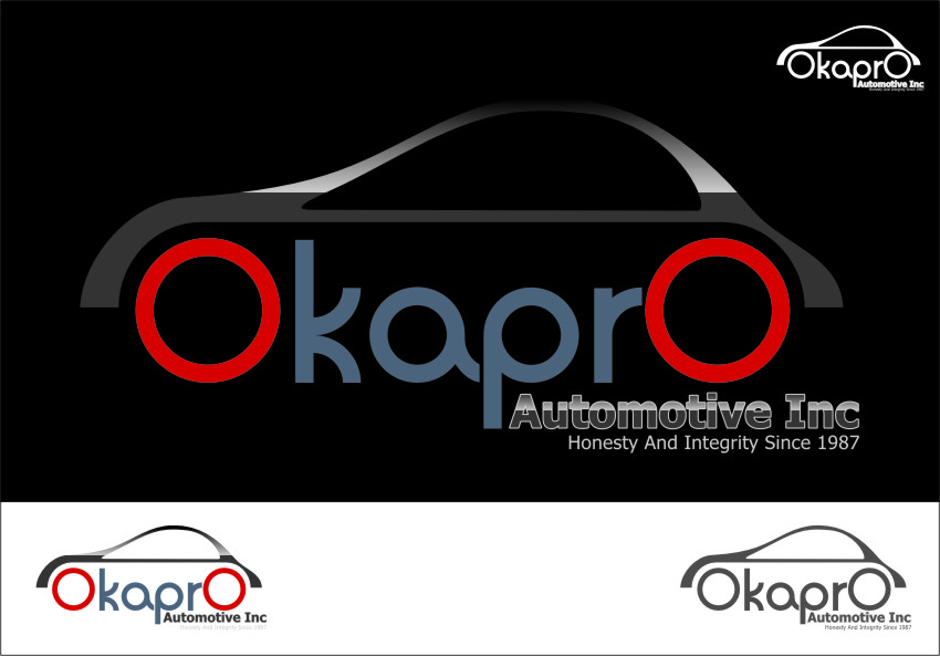 Logo Design by Ngepet_art - Entry No. 88 in the Logo Design Contest New Logo Design for Okapro  Automotive  Inc.