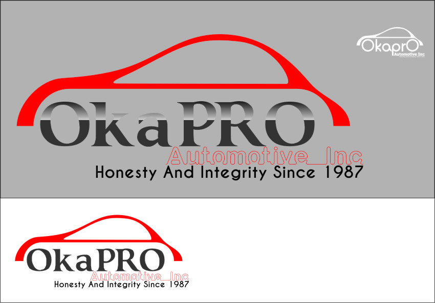 Logo Design by RasYa Muhammad Athaya - Entry No. 90 in the Logo Design Contest New Logo Design for Okapro  Automotive  Inc.