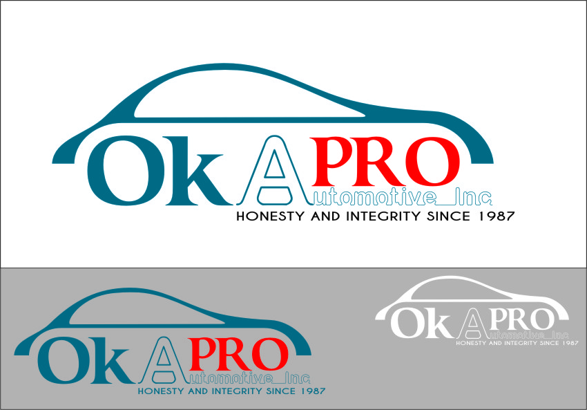 Logo Design by RasYa Muhammad Athaya - Entry No. 91 in the Logo Design Contest New Logo Design for Okapro  Automotive  Inc.