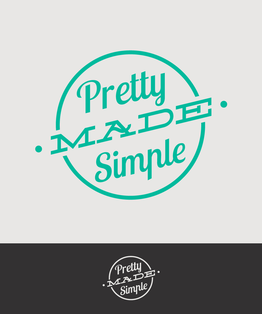 Logo Design by Mathias Frisa - Entry No. 116 in the Logo Design Contest Pretty Made Simple Logo Design.