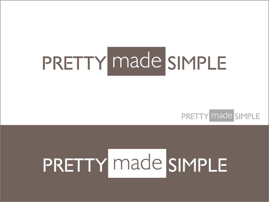 Logo Design by RED HORSE design studio - Entry No. 124 in the Logo Design Contest Pretty Made Simple Logo Design.