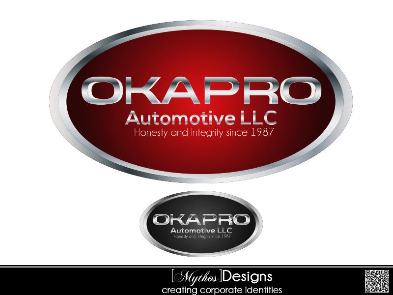 Logo Design by Mythos Designs - Entry No. 96 in the Logo Design Contest New Logo Design for Okapro  Automotive  Inc.