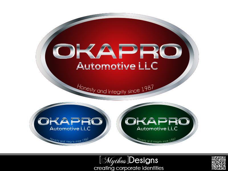 Logo Design by Mythos Designs - Entry No. 97 in the Logo Design Contest New Logo Design for Okapro  Automotive  Inc.