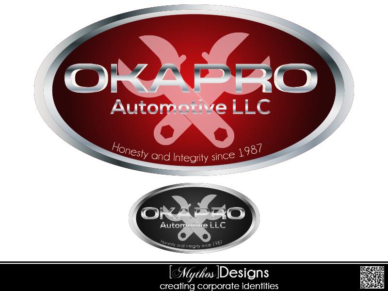 Logo Design by Mythos Designs - Entry No. 98 in the Logo Design Contest New Logo Design for Okapro  Automotive  Inc.