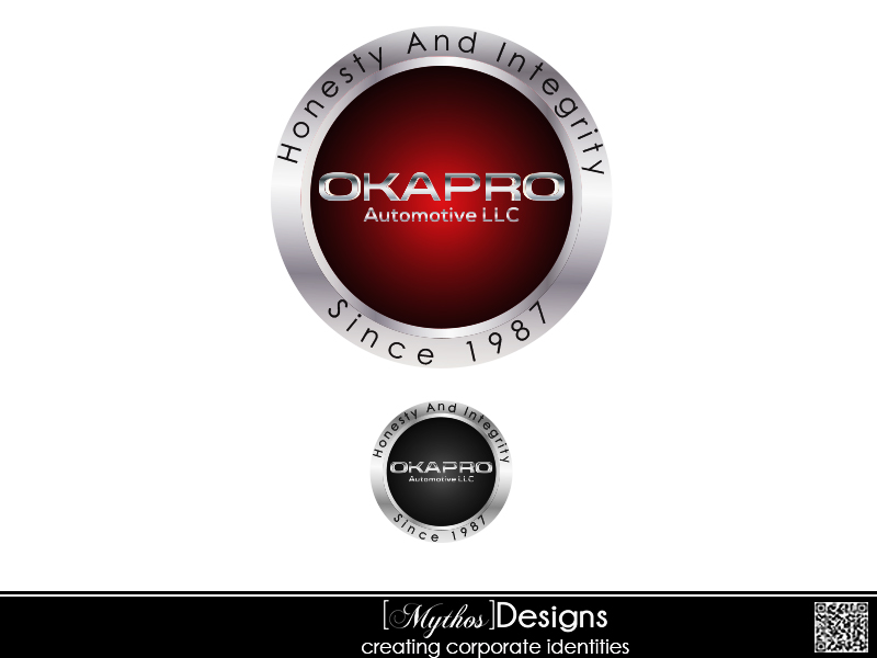 Logo Design by Mythos Designs - Entry No. 104 in the Logo Design Contest New Logo Design for Okapro  Automotive  Inc.