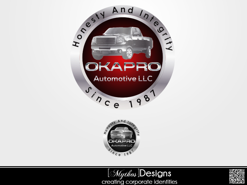 Logo Design by Mythos Designs - Entry No. 105 in the Logo Design Contest New Logo Design for Okapro  Automotive  Inc.
