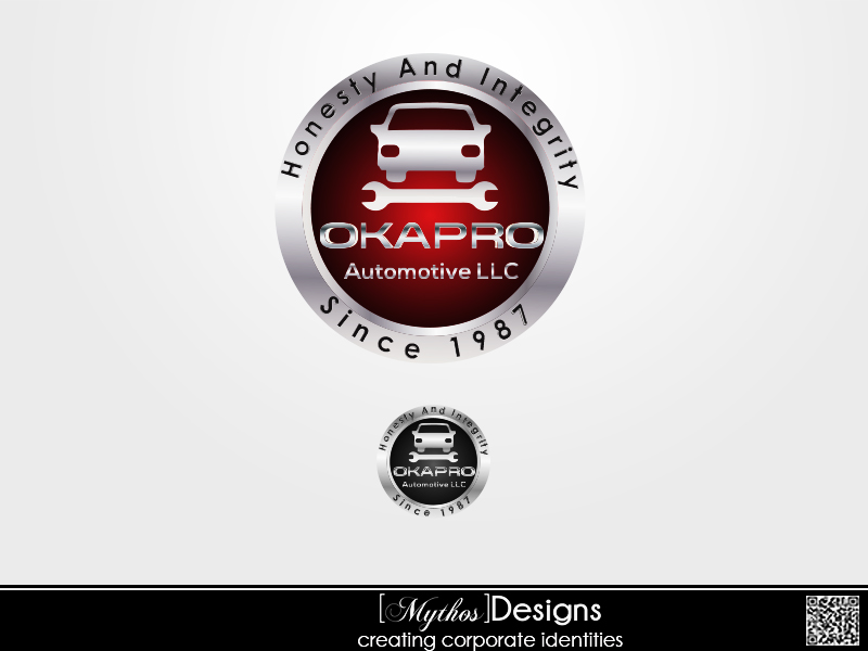 Logo Design by Mythos Designs - Entry No. 106 in the Logo Design Contest New Logo Design for Okapro  Automotive  Inc.