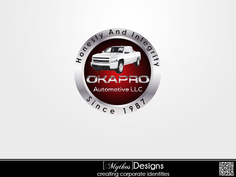 Logo Design by Mythos Designs - Entry No. 107 in the Logo Design Contest New Logo Design for Okapro  Automotive  Inc.