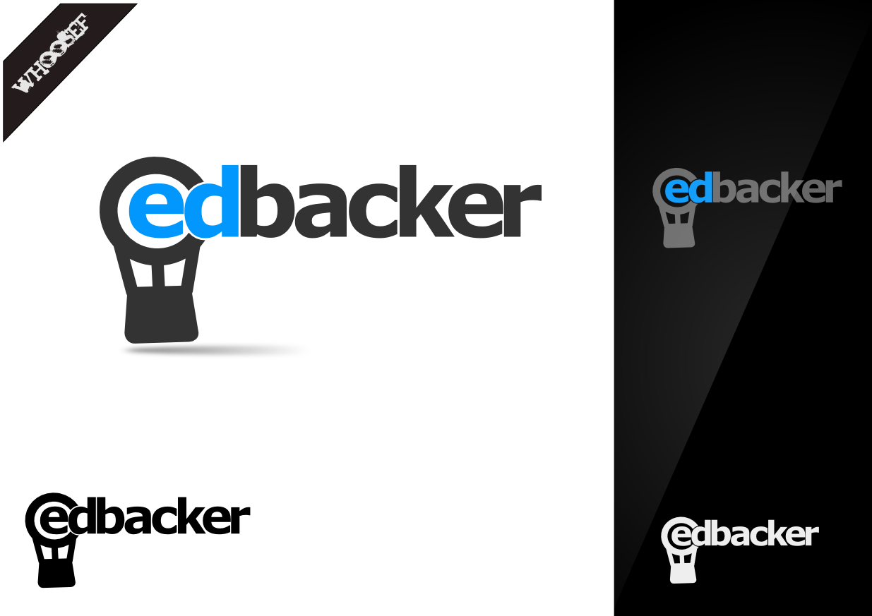 Logo Design by whoosef - Entry No. 110 in the Logo Design Contest New Logo Design for edbacker.