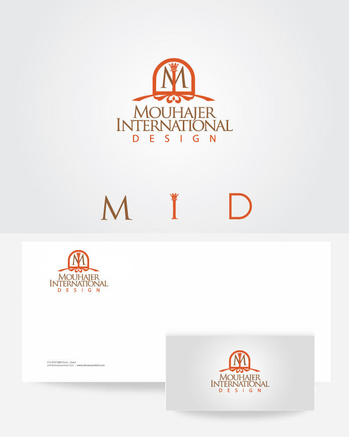 Logo Design by Private User - Entry No. 22 in the Logo Design Contest Unique Logo Design Wanted for Mouhajer International Design.