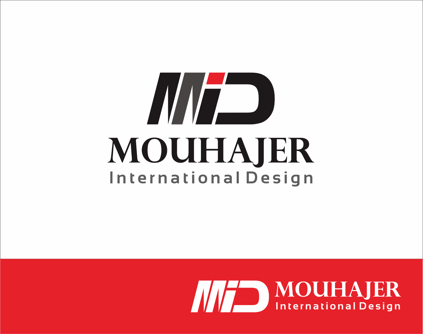 Logo Design by Armada Jamaluddin - Entry No. 28 in the Logo Design Contest Unique Logo Design Wanted for Mouhajer International Design.