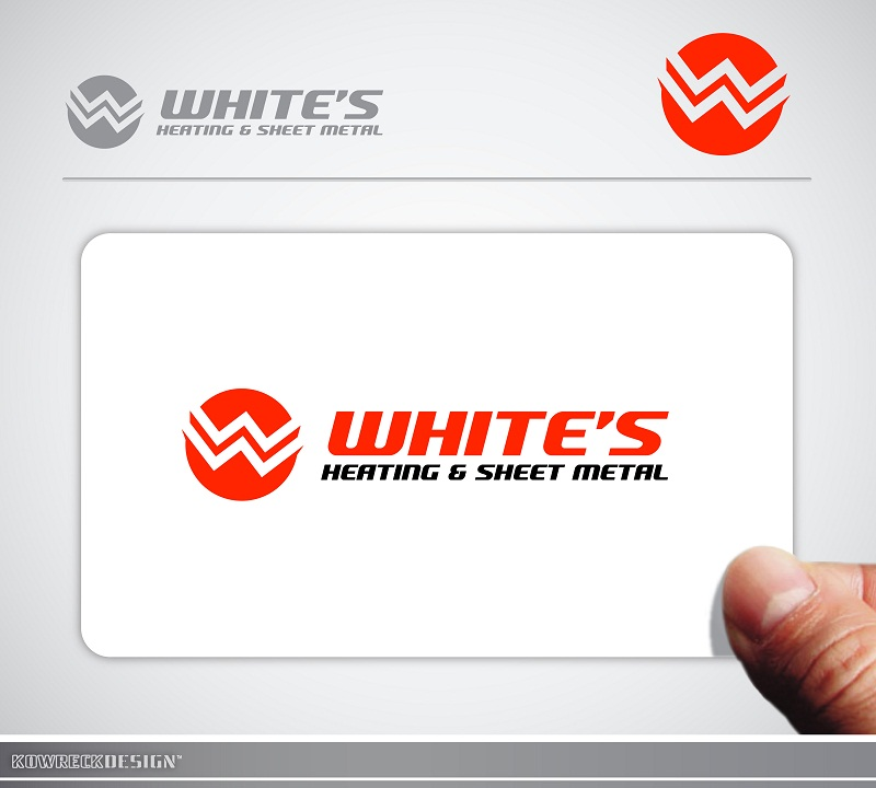 Logo Design by kowreck - Entry No. 3 in the Logo Design Contest Imaginative Logo Design for White's Heating and Sheet Metal.