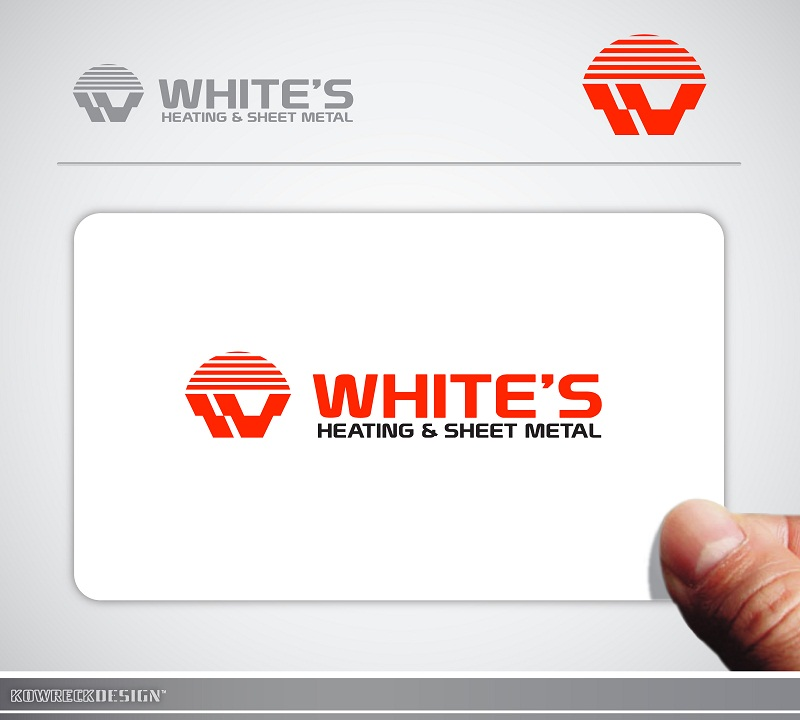 Logo Design by kowreck - Entry No. 4 in the Logo Design Contest Imaginative Logo Design for White's Heating and Sheet Metal.