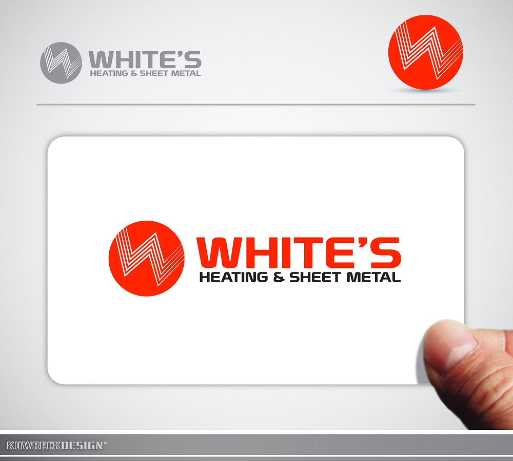 Logo Design by kowreck - Entry No. 5 in the Logo Design Contest Imaginative Logo Design for White's Heating and Sheet Metal.