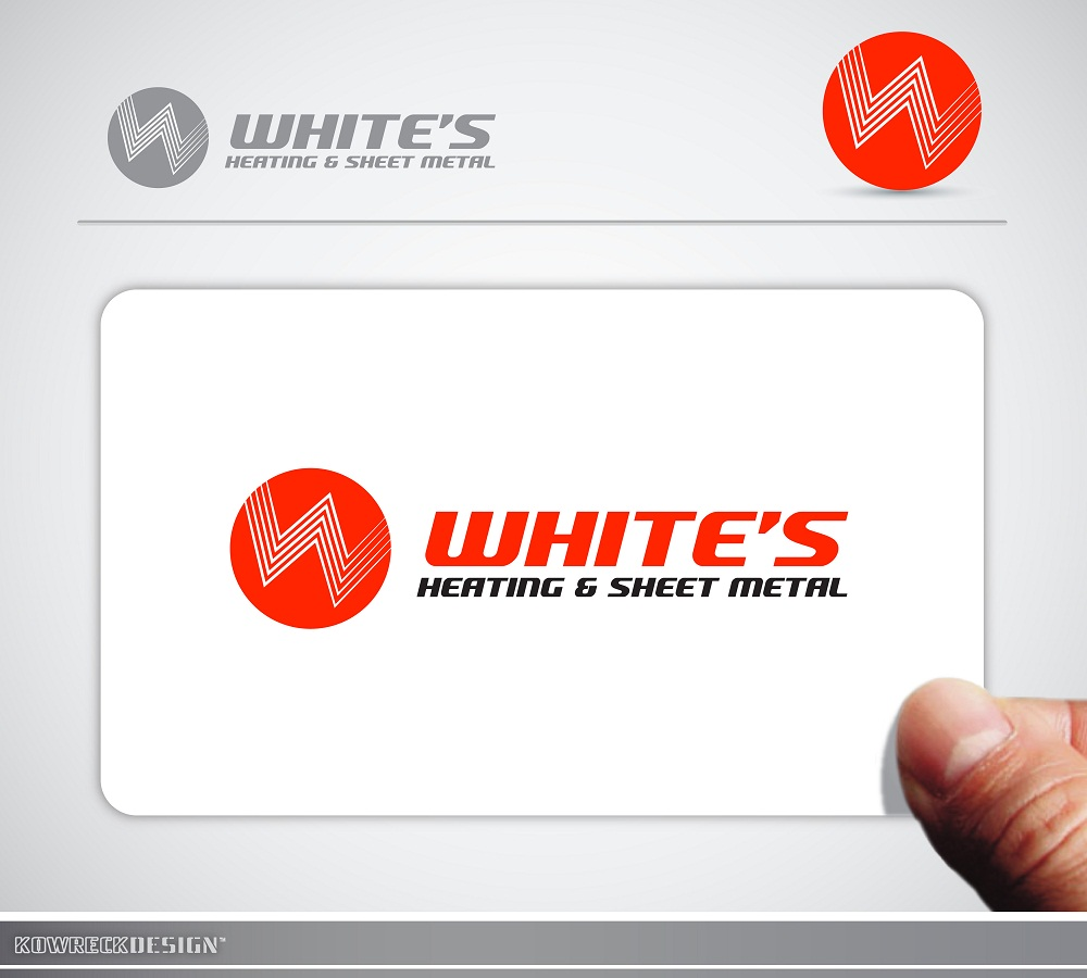 Logo Design by kowreck - Entry No. 6 in the Logo Design Contest Imaginative Logo Design for White's Heating and Sheet Metal.