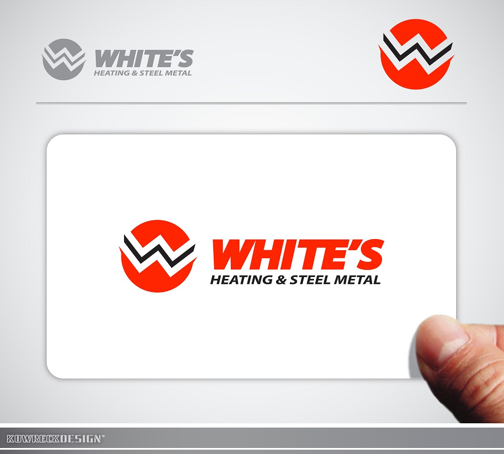 Logo Design by kowreck - Entry No. 8 in the Logo Design Contest Imaginative Logo Design for White's Heating and Sheet Metal.