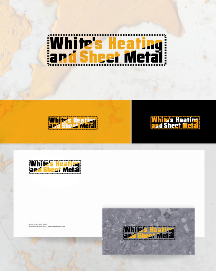 Logo Design by Private User - Entry No. 9 in the Logo Design Contest Imaginative Logo Design for White's Heating and Sheet Metal.