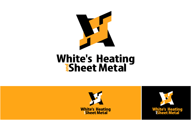 Logo Design by Private User - Entry No. 10 in the Logo Design Contest Imaginative Logo Design for White's Heating and Sheet Metal.